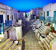 The Grand Rua of Folegandros by Hercules Milas