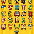 Super Alphabet Poster by Mike Cressy