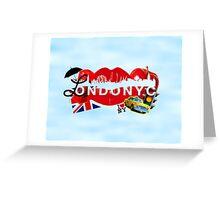 ☂ LONDONYC ☁ Greeting Card