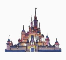 disney castle by pastelxprints