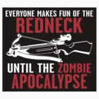 Everyone Makes Fun of the Redneck until the Zombie Apocalypse Walkers Dead Walking by sturgils