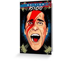 American Psycho British Edition Greeting Card