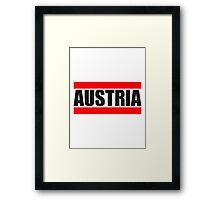 Cool Austria Design Framed Print