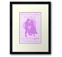 now that I see you Framed Print