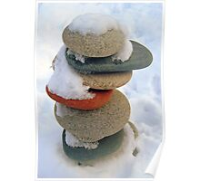 snow rock  Poster