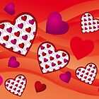 Creative hearts background in various pink and red colors by schtroumpf2510