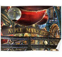 Apple Market Horizontal Poster