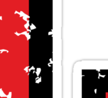 Letter L (Distressed) two-color black/red character Sticker