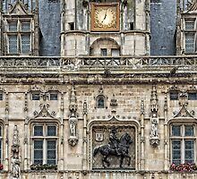 Facing Details At City Hall In Compiègne @ by © Hany G. Jadaa © Prince John Photography