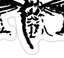 Cicada 3301 everywhere black Sticker