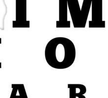 Jim Moriarty T-shirt Sticker