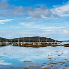 Seascape, Arisaig marina, Locharbar, Scotland by Hugh McKean