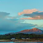 Landscape, Evening light over, Traigh house and Carn a Ghobhair by Hugh McKean