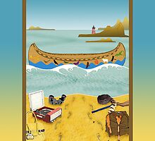 Ipad: Canoe to Moonrise Kingdom by Steven House