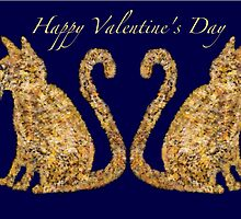Cat Tails Valentine Card by Penny Marcus