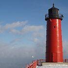 Lighthouse and Sea Smoke by Timothy  Ruf