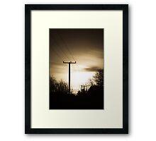 Power Masts in Moon Light Framed Print