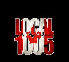 Local 1005 Canada Flag (Black) by Verbal72