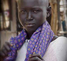 Dinka Girl in Rumbek by jvoweaver