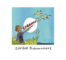 Zombie Birdwatcher Craaanneesss Photographic Print
