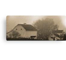 foggy farmstead 2 Canvas Print