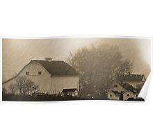 foggy farmstead 2 Poster