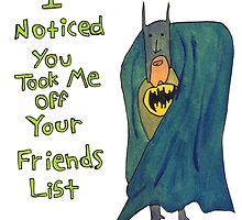 Batman's Facebook Friend's List by KenTanakaLovesU