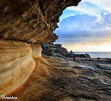 Rockface at sunrise by Chris Brunton