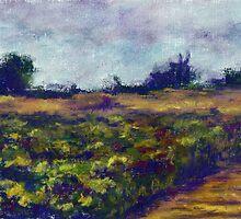 Fallbrook Field (pastel) by Niki Hilsabeck