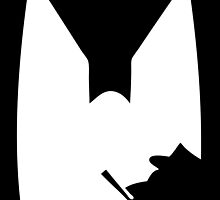 The Shadow of the Bat Penguin by creativecamart
