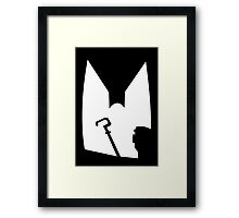 The Shadow of the Bat Riddler Framed Print