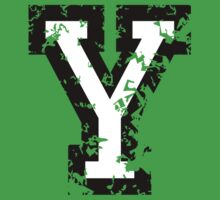 Letter Y (Distressed) two-color black/white character by theshirtshops