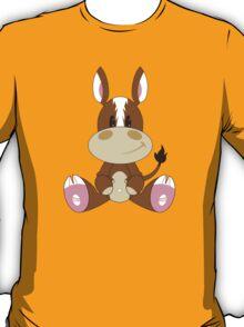Cartoon Horse Pattern T-Shirt