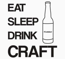 Eat Sleep Drink Craft Black by jemmy88