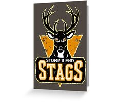 STORM'S END STAGS Greeting Card