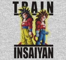Train Insaiyan - Super saiyan 4 Goku & Vegeta by BadrHoussni