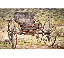 The Buckboard Bounce where West is West Photographic Print