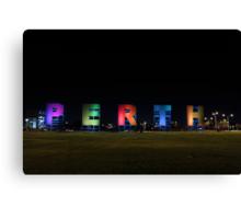 Perth Sign Canvas Print
