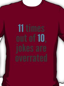 Overrated - Statistics T-Shirt