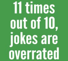Overrated - Statistics - White T-Shirt