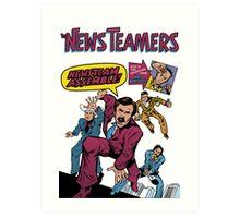 News Team Assemble! Art Print