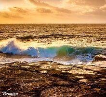 Sunrise wave by Chris Brunton