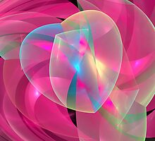 Romantic Fractal Heart by walstraasart
