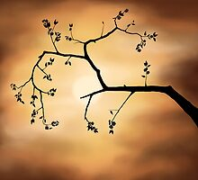 Cherry Blossom over Dramatic Sky art photo print by ArtNudePhotos