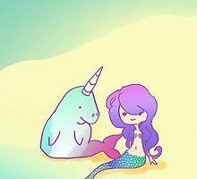 The Mermaid and the Unigong by RabbitUpi