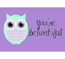 Owl-entine Card Photographic Print