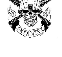 Military Infantry Skull by kwg2200