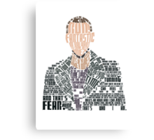 Ninth Doctor Portrait Typography Canvas Print