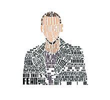 Ninth Doctor Portrait Typography Photographic Print