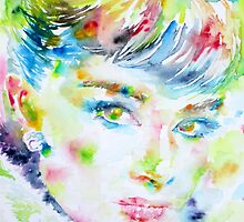 AUDREY HEPBURN - watercolor portrait.4 by lautir